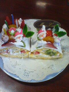 手作りケーキ完成(^O^)