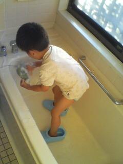 風呂洗い(^o^)