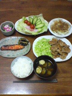 夕食(^o^)
