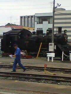 蒸気機関車(^o^)