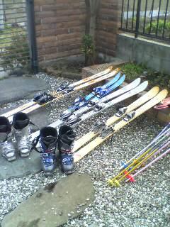 スキー道具(^o^)