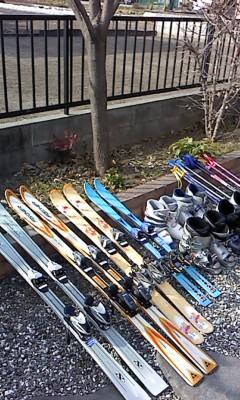 スキーの用意(^o^)