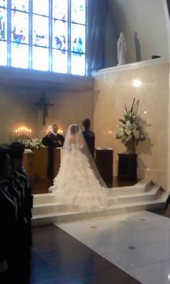 結婚式(^o^)