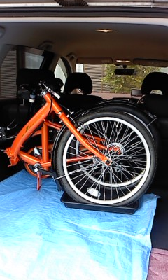 折りたたみ自転車(^o^)
