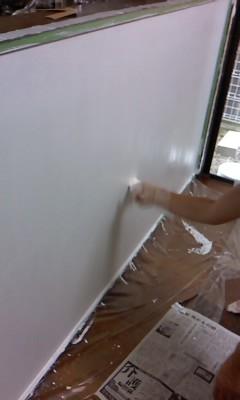 壁塗り(^o^)